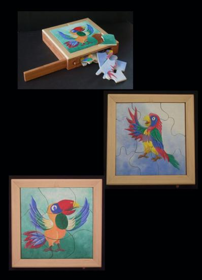 Boite puzzle les oiseaux.