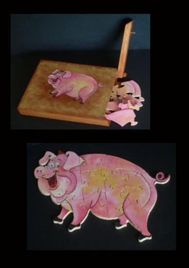 Boite puzzles cochon