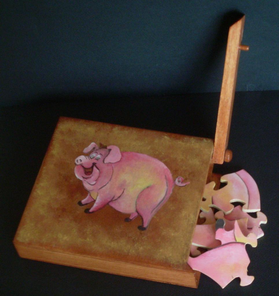Boite puzzle le cochon.